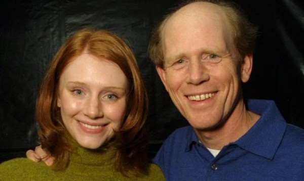Bryce Dallas Howard con Ron Howard
