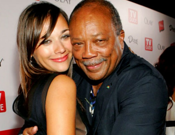 Quincy Jones con su hija Rashida Jones