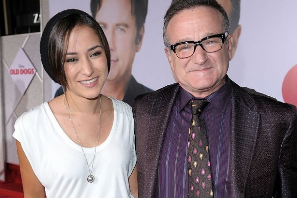 Zelda Williams con Robin Williams